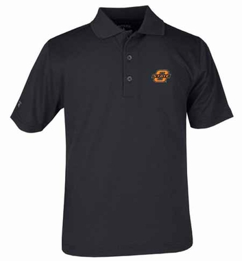 Oklahoma State YOUTH Unisex Pique Polo Shirt (Team Color: Black)