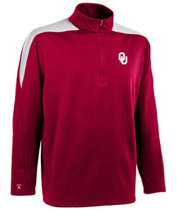 Oklahoma Mens Succeed 1/4 Zip Performance Pullover (Team Color: Maroon) - Large