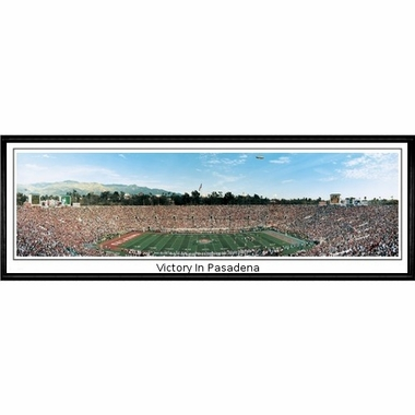 Oklahoma Victory in Pasadena Framed Panoramic Print