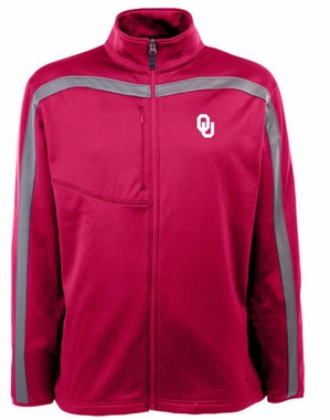 Oklahoma Mens Viper Full Zip Performance Jacket (Team Color: Maroon)