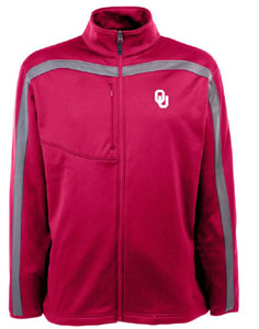 Oklahoma Mens Viper Full Zip Performance Jacket (Team Color: Maroon) - XX-Large