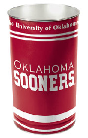 "Oklahoma Sooners 15"" Waste Basket"