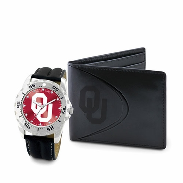 Oklahoma Watch and Wallet Gift Set