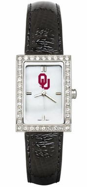 Oklahoma Women's Black Leather Strap Allure Watch