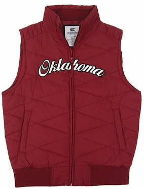 Oklahoma Womens Bubble Vest