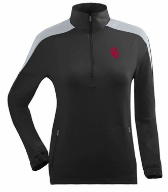 Oklahoma Womens Succeed 1/4 Zip Performance Pullover (Team Color: Black)