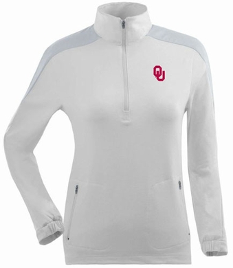 Oklahoma Womens Succeed 1/4 Zip Performance Pullover (Color: White)