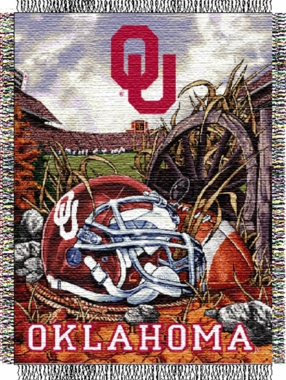 Oklahoma Woven Tapestry Throw Blanket