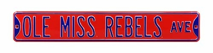 Ole Miss Rebels Ave Street Sign
