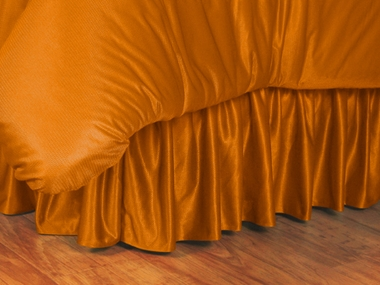 Orange Jersey Material Bedskirt