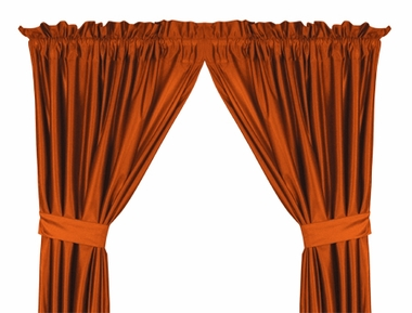 Orange Jersey Material Drapes (Pair)