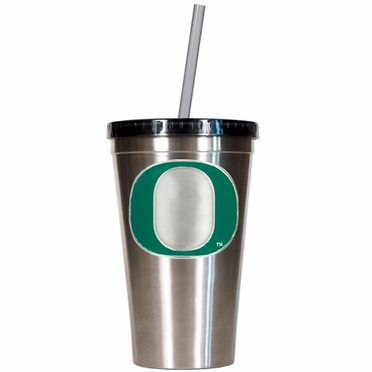 Oregon 16oz Stainless Steel Insulated Tumbler with Straw