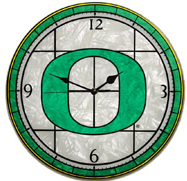 Oregon Art Glass Clock