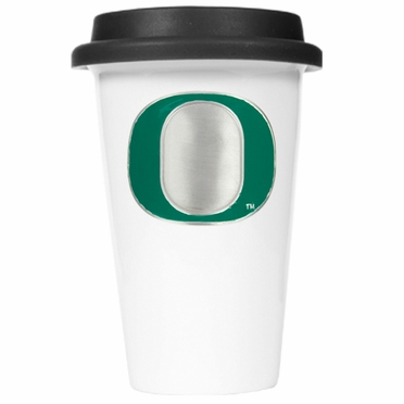 Oregon Ceramic Travel Cup (Black Lid)