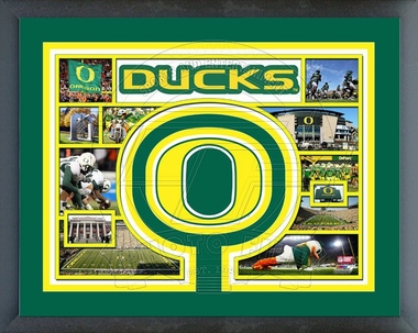 Oregon Ducks Framed Milestones & Memories