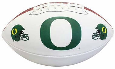 Oregon Ducks NCAA Baden Official Size White Panel Football