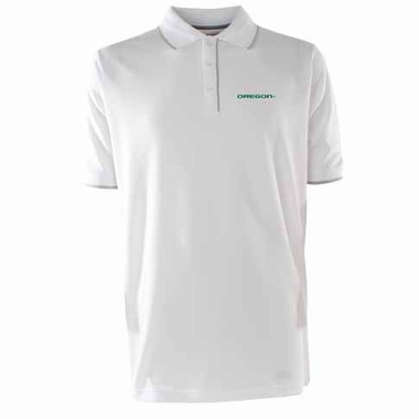 Oregon Mens Elite Polo Shirt (Color: White)