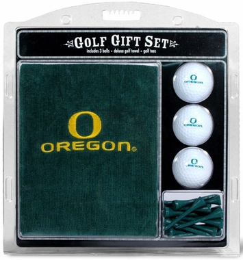 Oregon Embroidered Towel Gift Set