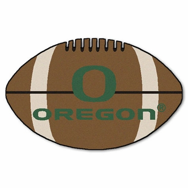 Oregon Football Shaped Rug
