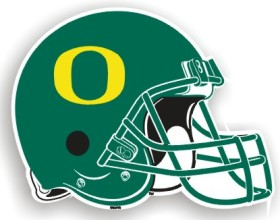 "Oregon Ducks 12"" Helmet Car Magnet"
