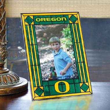 Oregon Portrait Art Glass Picture Frame