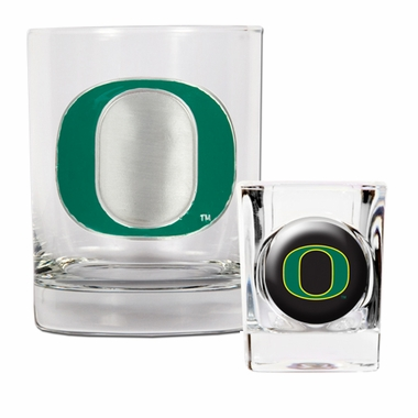 Oregon Rocks and Shot Glass Set