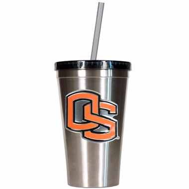 Oregon State 16oz Stainless Steel Insulated Tumbler with Straw