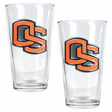 Oregon State 2 Piece Pint Glass Set