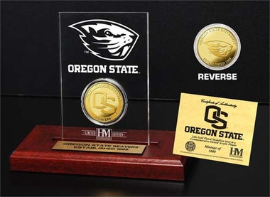 Oregon State Beavers Oregon State University 24KT Gold Coin Etched Acrylic