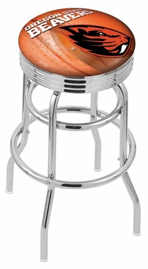 Oregon state 25 inch l7c3c chrome double ring with ribbed accent bar