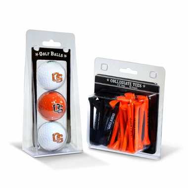 Oregon State 3 Golf Balls And 50 Golf Tees