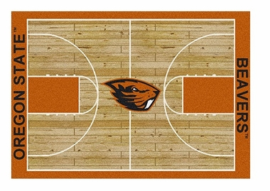 "Oregon State 5'4"" x 7'8"" Premium Court Rug"