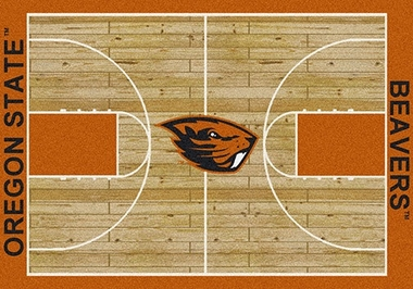 "Oregon State 7'8"" x 10'9"" Premium Court Rug"