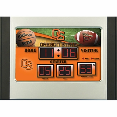 Oregon State Alarm Clock Desk Scoreboard