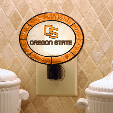Oregon State Art Glass Night Light