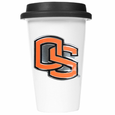 Oregon State Ceramic Travel Cup (Black Lid)
