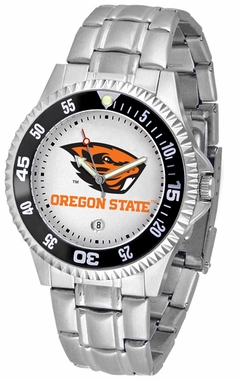 Oregon State Competitor Men's Steel Band Watch