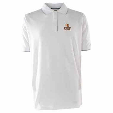Oregon State Mens Elite Polo Shirt (Color: White)