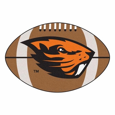 Oregon State Football Shaped Rug
