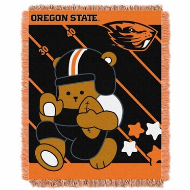 Oregon State Jacquard BABY Throw Blanket