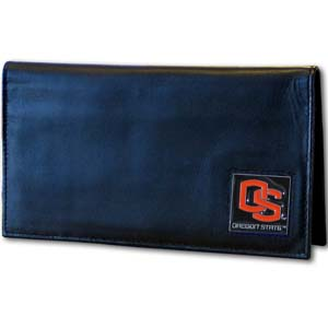 Oregon State Leather Checkbook Cover (F)