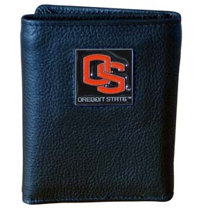 Oregon State Leather Trifold Wallet (F)