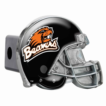 Oregon State Metal Helmet Trailer Hitch Cover