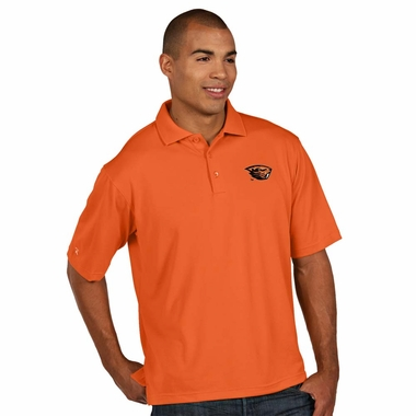 Oregon State Mens Pique Xtra Lite Polo Shirt (Color: Orange)