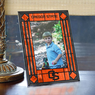 Oregon State Portrait Art Glass Picture Frame