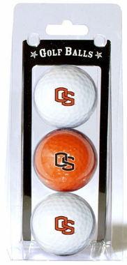 Oregon State Set of 3 Multicolor Golf Balls