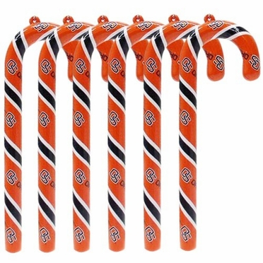Oregon State Set of 6 Candy Cane Ornaments