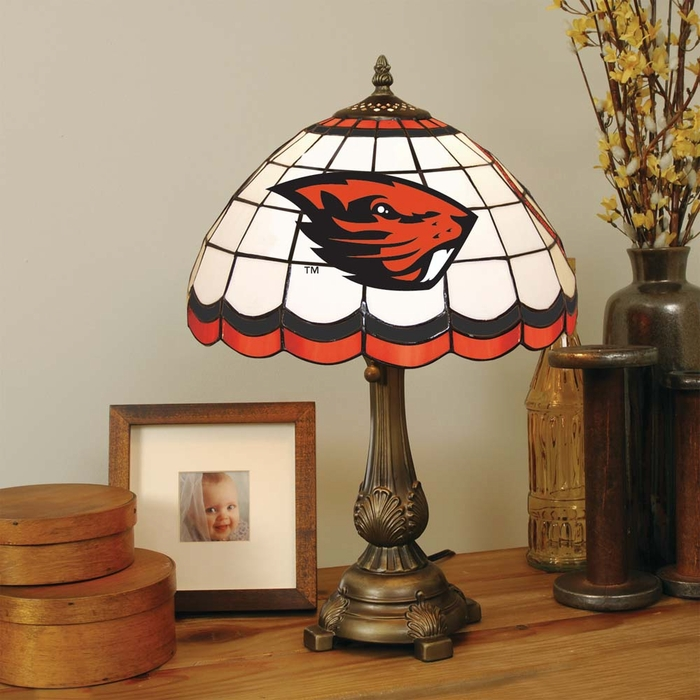 oregon state stained glass table lamp. Black Bedroom Furniture Sets. Home Design Ideas