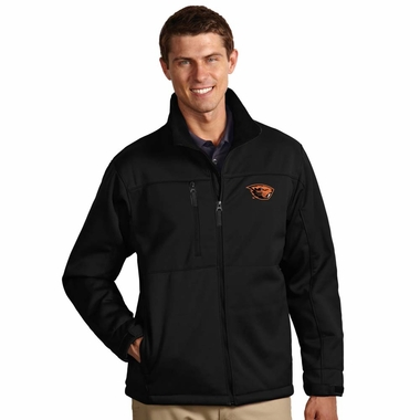 Oregon State Mens Traverse Jacket (Team Color: Black) - Large