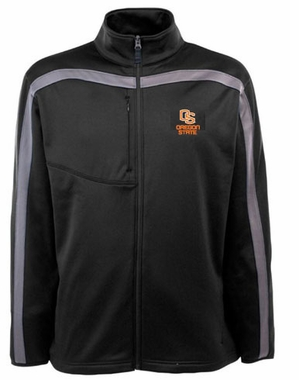 Oregon State Mens Viper Full Zip Performance Jacket (Team Color: Black)